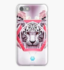 Abstract Tiger Fashion in geometric hexagon iPhone Case/Skin
