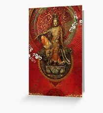 Kwanyin on Red Greeting Card