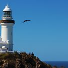 Byron Bay Lighthouse. by Jeanette Varcoe.