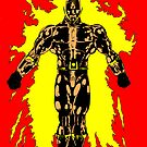 Flame- Man on Fire by Colin Wells