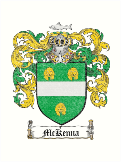 Mckenna Family Crest Art Prints By Downwithdetroit Redbubble