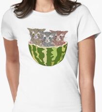 Watermelon Cats Women's Fitted T-Shirt
