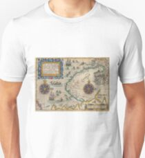 Antique Map - de Bry and de Veer's Nunavut, Canada (1601) Unisex T-Shirt
