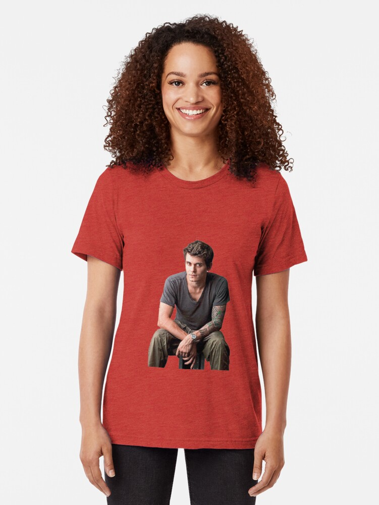 Alternate view of John Mayer looking just really nice Tri-blend T-Shirt