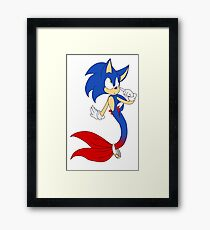 Mermaid Sonic The Hedgehog Framed Print