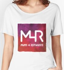 Mums 4 Refugees CMYK logo Women's Relaxed Fit T-Shirt