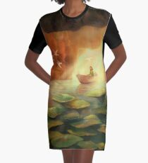 Into the Cave Graphic T-Shirt Dress