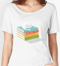 The Cat Loves Books Women's Relaxed Fit T-Shirt