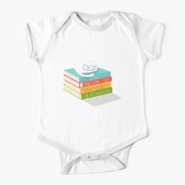 The Cat Loves Books Short Sleeve Baby One-Piece