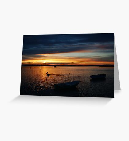 Swan Bay Sunset, Queenscliff Greeting Card