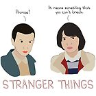 Eleven and Mike Stranger Things by bonieiji
