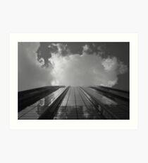 Looking Up v8 - AIG building, Hong Kong Art Print
