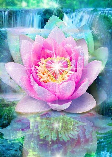 Lotus flower heart posters by alixandra mullins redbubble lotus flower heart mightylinksfo