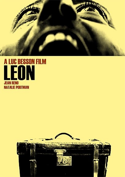 Leon film poster by Lewis Packman