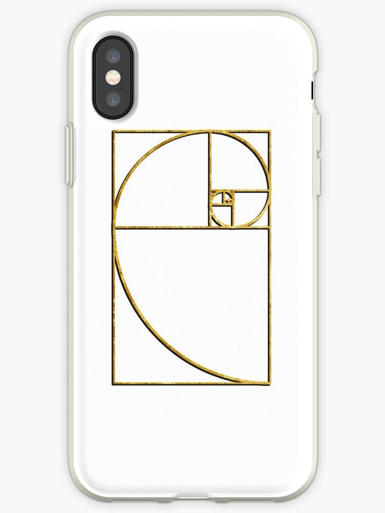 the best attitude c2aac 1efed 'Golden Ratio Sacred Fibonacci Spiral' iPhone Case by TheShirtYurt