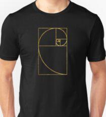 Golden Ratio Sacred Fibonacci Spiral Unisex T-Shirt