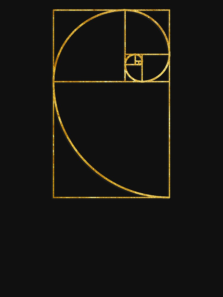 Golden Ratio Sacred Fibonacci Spiral | Unisex T-Shirt