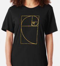 Golden Ratio Sacred Fibonacci Spiral Slim Fit T-Shirt