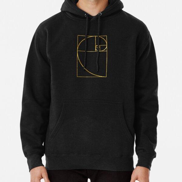 Golden Ratio Sacred Fibonacci Spiral Pullover Hoodie