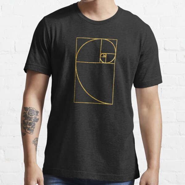 Golden Ratio Sacred Fibonacci Spiral Essential T-Shirt