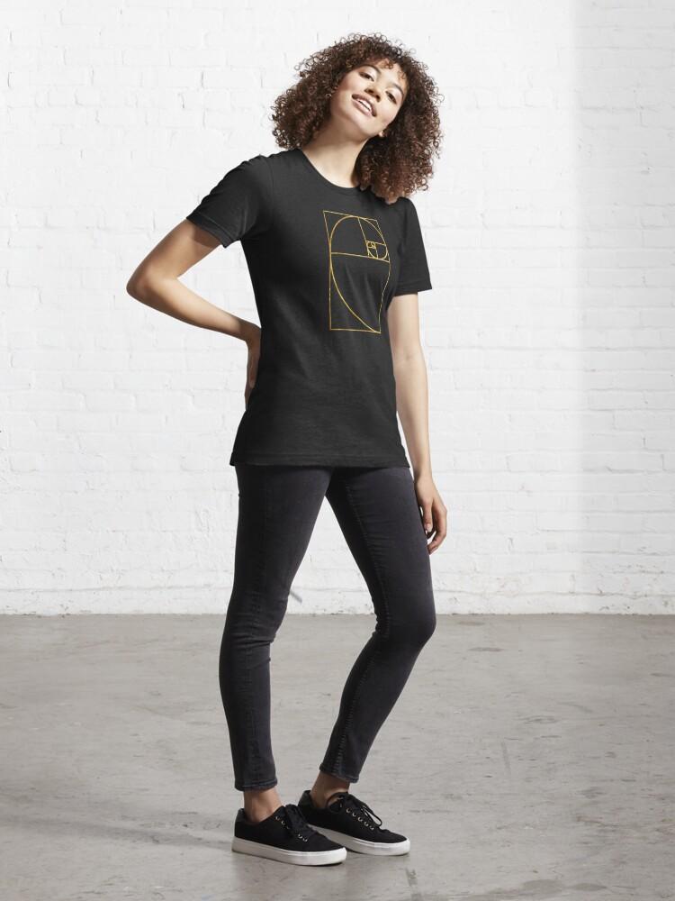 Alternate view of Golden Ratio Sacred Fibonacci Spiral Essential T-Shirt