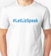 #LetLizSpeak Elizabeth Warren Jeff Sessions Civil Rights Voter Rights Unisex T-Shirt