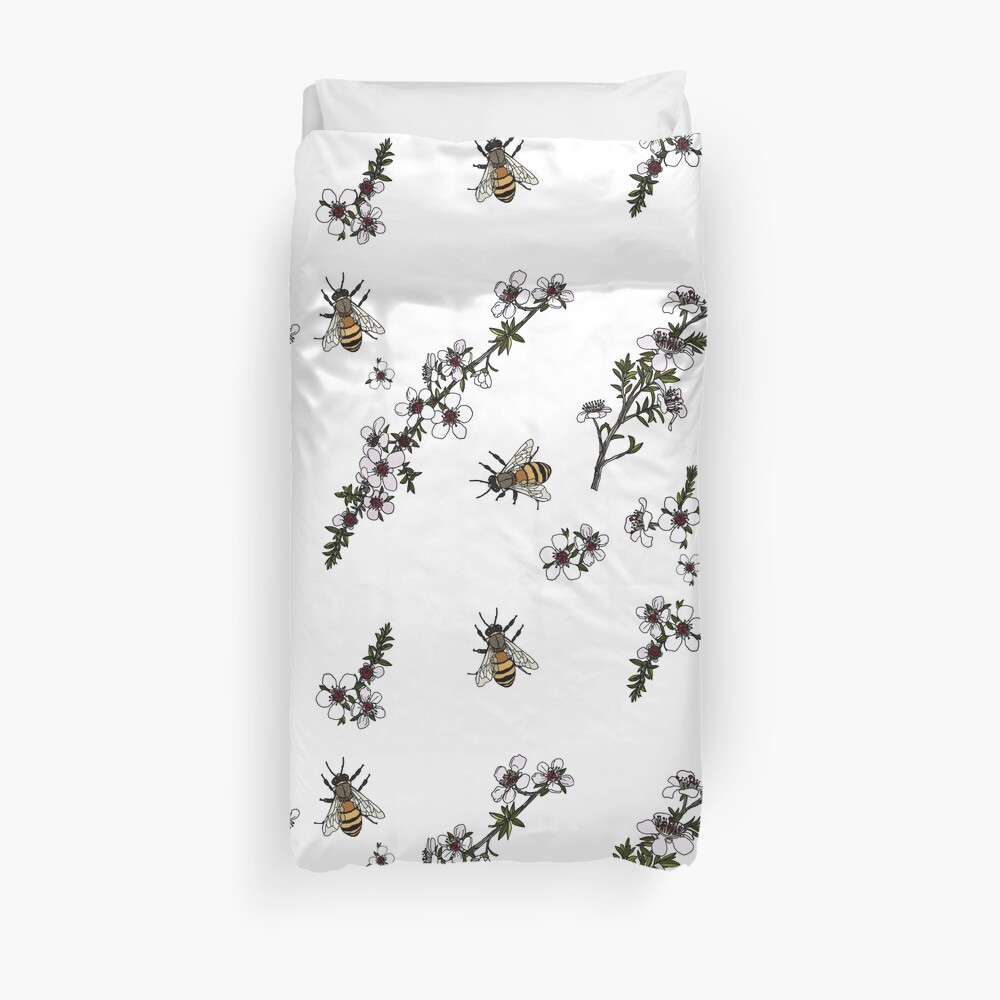 Manuka and Bees Duvet Cover