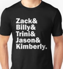 Zack, Trini, Billy, Jason and Kimberly  Unisex T-Shirt