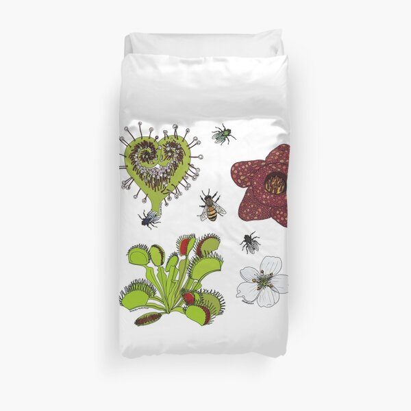 Insectivorous plants - scattered Duvet Cover