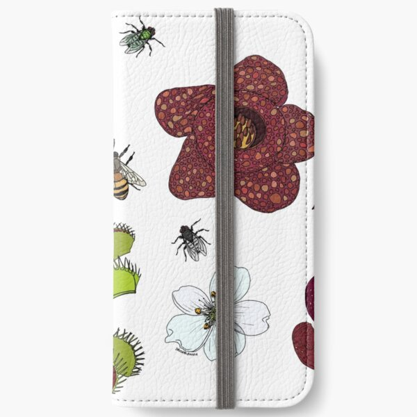 Insectivorous plants - scattered iPhone Wallet