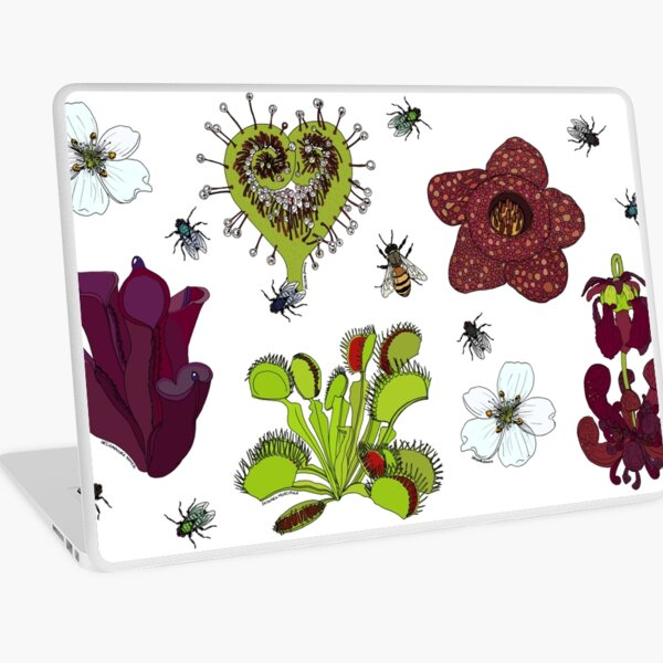 Insectivorous plants - scattered Laptop Skin