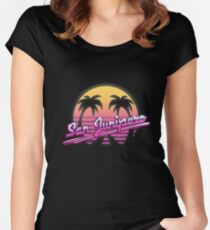 San Junipero Women's Fitted Scoop T-Shirt