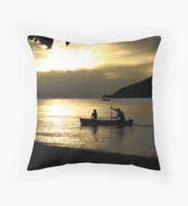 Sunset over Lake Malawi Throw Pillow