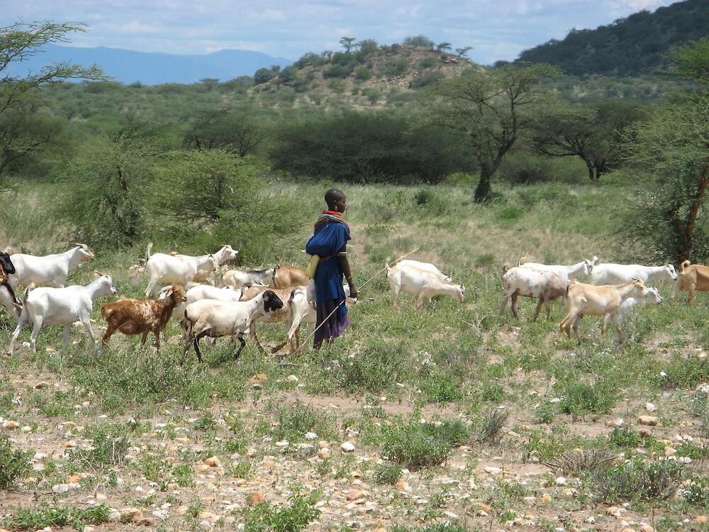 Samburu farmer by Tim Hughes