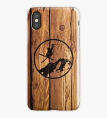 skiing 1 distressed iPhone Case
