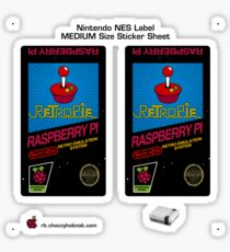 NES Custom Cart Label - Retropie [Get the MEDIUM size] Sticker