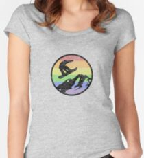 Snowboarding 1 distressed Women's Fitted Scoop T-Shirt