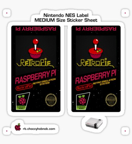 NES Custom Cart Label - Carbon [Get the MEDIUM size] Sticker