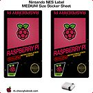 NES Custom Cart Label - Raspberry [Get the MEDIUM size] by ChoccyHobNob