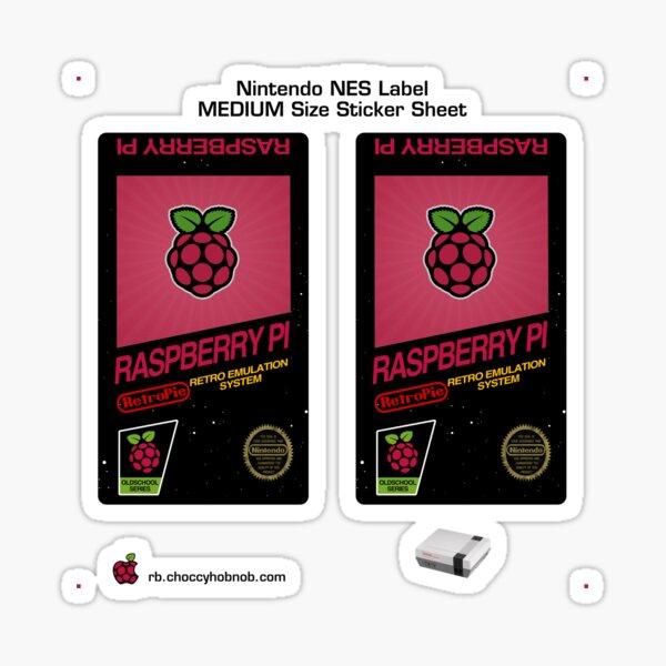 NES Custom Cart Label - Raspberry [Get the MEDIUM size] Sticker