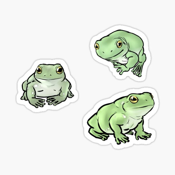 Whites Dumpy Treefrogs Sticker