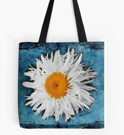 Daisy on Denim Tote Bag