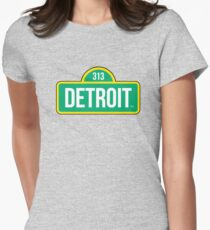 Detroit Street Live Womens Fitted T-Shirt