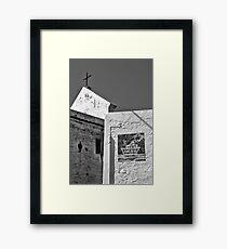 Italienische Szene: Richtung Hafen Framed Print