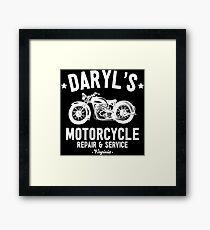 Daryl's Motorcycle Repair & Service Framed Print