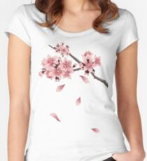 Cherry Blossom Branch Women's Fitted Scoop T-Shirt