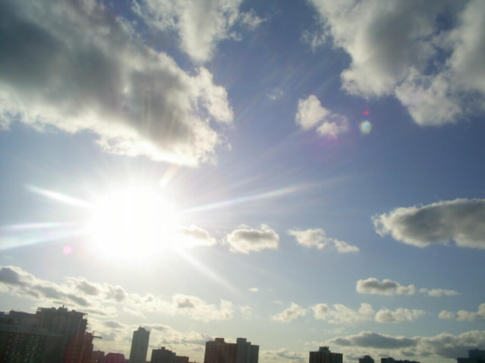 sun and clouds by oilersfan11