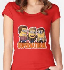 Funny Supernatural Minions  Women's Fitted Scoop T-Shirt