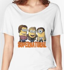 Funny Supernatural Minions  Women's Relaxed Fit T-Shirt
