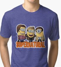 Funny Supernatural Minions  Tri-blend T-Shirt